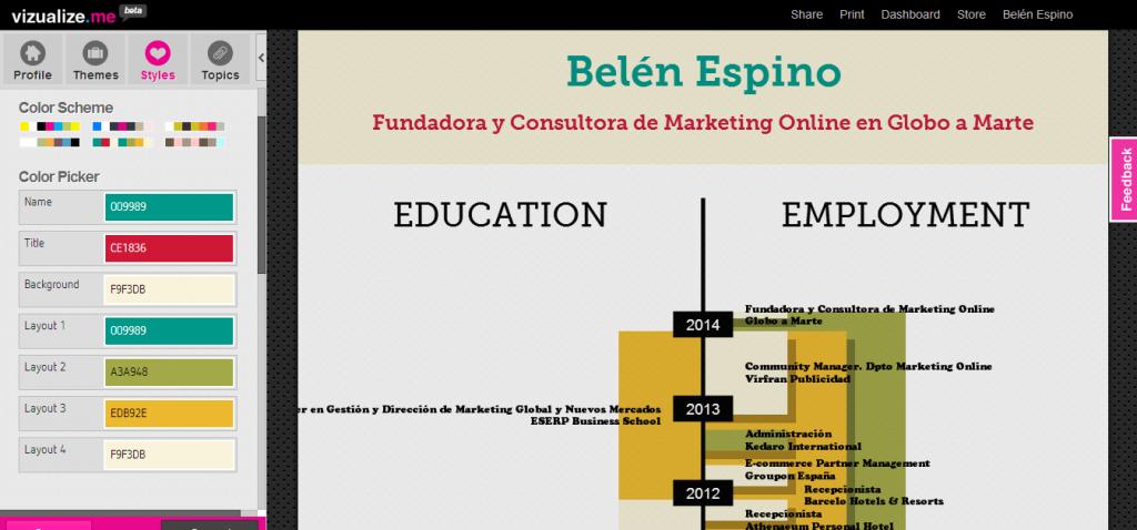 Curriculum Visualize me