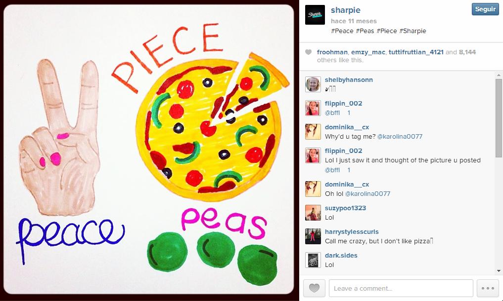 Estrategia Instagram Sharpie