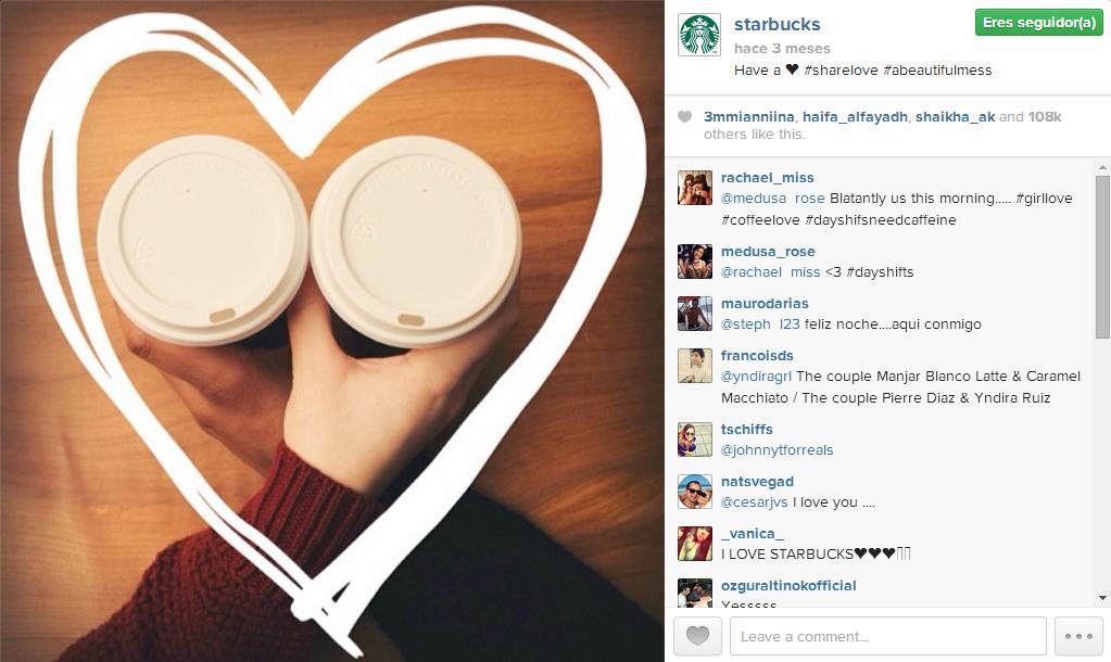Estrategia Instagram Starbucks