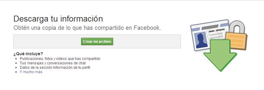 Copia Seguridad Facebook