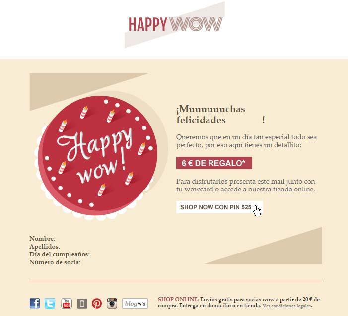 Woman secret cumpleaños